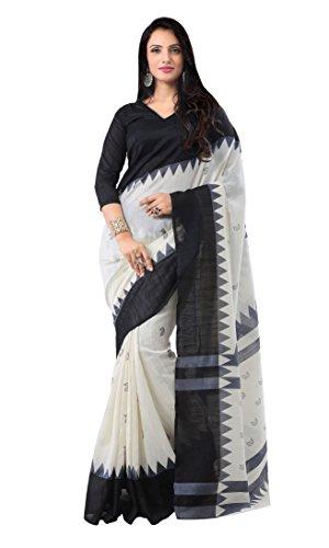 Applecreation Women's Printed sarees for women party wear offer designer sarees Multi-Coloured Bhagalpuri Silk