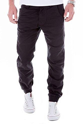 Merish Uomo Pantaloni, Chino in Cotone, Chino Jogger, Pantaloni Uomo SlimFit Pantaloni per il tempo libero, Jeans 6 colori diversi Modell 66 Nero 36/32