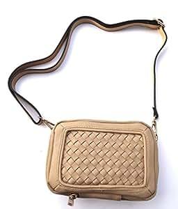 Crossbody Handbag Clutch for iPhone, Samsung, ZTE, LG, HTC, Motorola, Sony, Nokia, Alcatel, Huawei, Blu, Asus Phones (Beige)
