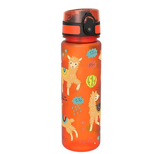 ion8 auslaufsichere Schlanke Wasserflasche/Trinkflasche, BPA-Frei, 500ml / 18oz, Lamas