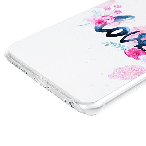 Lanveni Coque pour iPhone 6 Plus/iPhone 6S Plus - Ultra Fine [PC Plastique] Légère Housse Cover Case de Protection [Antichoc][Anti-poussière] - Papillons Violet Love