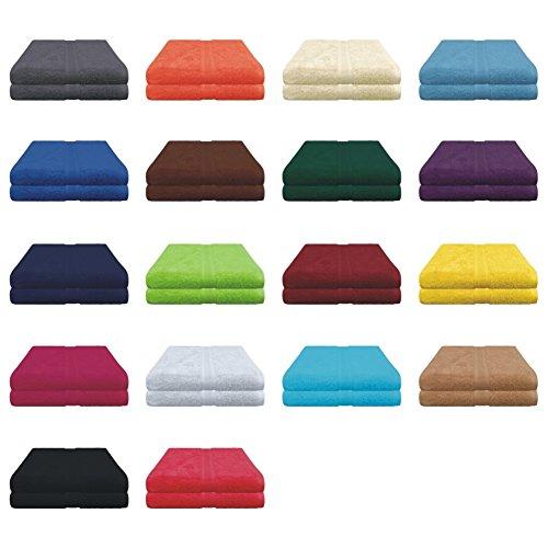Duschtücher Set - 2x Duschtuch - 70x140 cm - 100% Baumwolle - Farbe Anthrazit