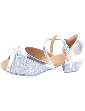 Ochenta Niña Bailarina Zapatos Tobillo Moda Zapatilla de Ballet para Niña Pequeño/Grande