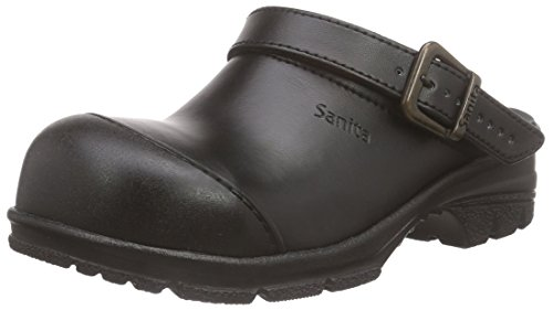 Sanita Workwear Unisex-Erwachsene San-Duty Open-SB Clogs, Schwarz (Black 2), 44 EU
