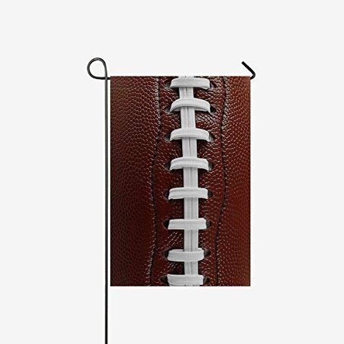 BoloHome Garten-Flaggen, doppelseitig, Nahaufnahme von American Football Laces Haus-Banner, Dekorative Flagge für Party, Hof, Zuhause, Außendekoration, 100% Polyester 28x40inch Cj7f1tc44c
