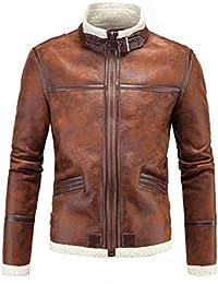 FuweiEncore Cappotto di Pelle da Uomo Cappotto di Pelle di Montone Lana di  qualità Invernale Plus 8c5c02d3f48