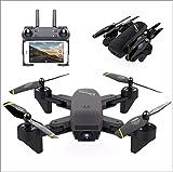ZYSMC Drohne mit Case,720P HD-Kamera, Beste Drohne für Einsteiger, Höhenbindung, Sprachsteuerung, G-Sensor für iPhone und Android