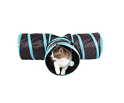 Gold butterfly@ Cat Lacquered Three-way Tunnels can be Accommodated Folding Cat Channel Chile Yi Cat Toys Drill Barrels