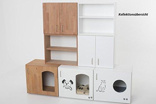 """Indoor Hundehütte """"Lucky-Deluxe"""" Hundebett mit Liegekissen Schlafplatz Buche Echtholzfurnier B / H / T 60 x 53,5 x 41 cm - 6"""