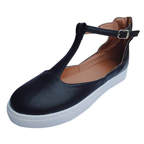 Damen Schuhe, Resplend Frauen Vintage Out Schuhe Runde Kappe Plattform Segelschuhe Flache Ferse Schnalle Freizeitschuhe Römische Schuhe