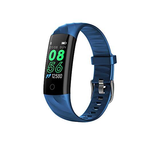 Fitness Armband für Aktivitätstracker, Fitness Tracker Fitnessarmband Wasserdicht IP68 mit Schlaftracker, Aktivitätstracker, Pulsmesser, Smartwatch für Damen Herren Kinder (Blue)