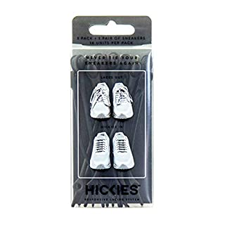 Original HICKIES 1.0 Unisex One-size Fits All Elastic No-Tie Shoelaces For All Types Of Shoes - Black (14 HICKIES laces)
