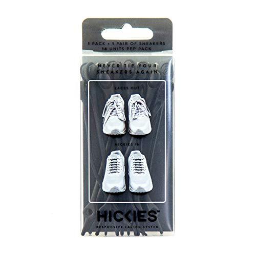 HICKIES Originals, Lacci per scarpe Elastici, misura unica, non si allacciano per tutti i tipi di scarpe - Nero