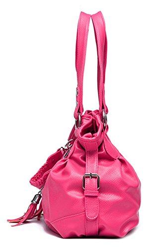 Keshi Pu Niedlich Damen Handtaschen, Hobo-Bags, Schultertaschen, Beutel, Beuteltaschen, Trend-Bags, Velours, Veloursleder, Wildleder, Tasche Café