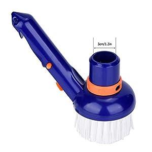 Jeffergarden Spazzola per la Pulizia della Piscina Piscina Step & Corner Vacuum Brush Spa Vasche idromassaggio Spazzole per la Pulizia con setole Fini