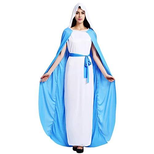 thematys Jungfrau Maria Kostüm-Set für Damen - perfekt für Cosplay, Karneval & Halloween - Einheitsgröße 160-180cm (Kostüm Von Verschiedenen Heiligen)