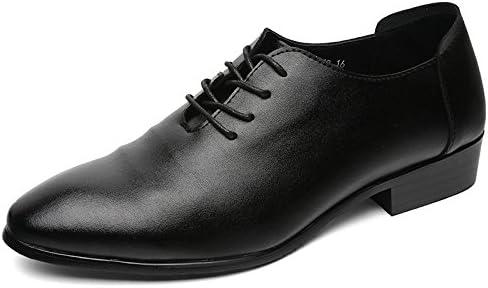 LQV Zapatos Casuales de los Hombres Nueva Correa de Cuero Suave Antideslizante Calzado Negro Resistente al Desgaste