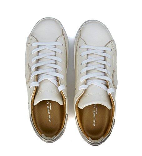 Sneaker Philippe Model Classic in pelle opaca bianco perlato Bianco