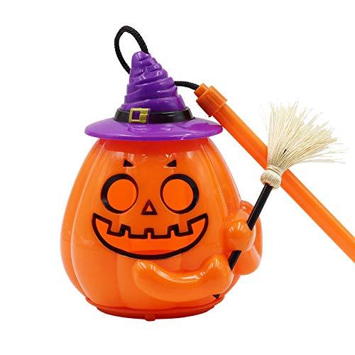 (WANGLAI Halloween-Emoji-Kürbis-Lichter/batteriebetriebene Lichter/Schrei-Sprachsteuerung/Blinklichter)