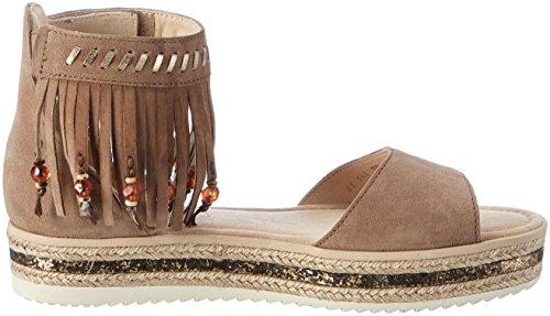 Gabor Shoes Fashion, Sandali con Zeppa Donna Marrone (walnut/space 11)