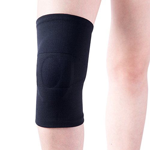 FREETOO Kniebandage knieschoner mit Silikonpolstern zur Stabilisierung oder bei chronischen Instabilitäten Kompression Kniestütze für damen und herren auf Sport und Alltag anwenden kinderleicht anlegen, L