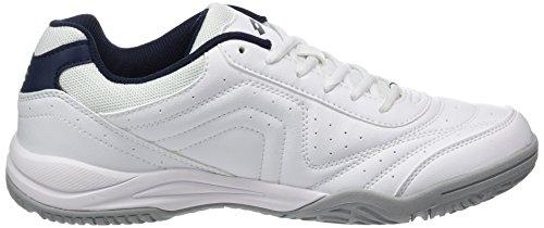 Lotto Sport Court Logo Xv, Chaussures de Tennis Homme Blanc (Wht/blu Avio)