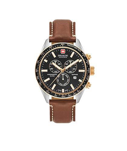 Swiss Military Reloj Cronógrafo para Hombre de Cuarzo con Correa en Cuero 06-4314.04.007.09