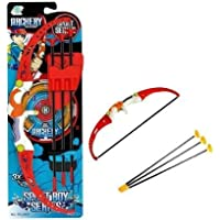 CRIYALE Kids Archery Sport Bow and Arrow Toy Set with Quiver to Hold Arrows, 3 Cup Suction Arrows Outdoor Garden Fun…