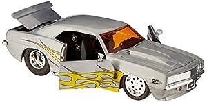 Dickie Toys 253745009 1969 Chevy Camaro Wave 3 - Vehículo Die-Cast, con Rueda Libre, Jada Toys 20 años de Aniversario, Plateado y Metalizado Cepillado