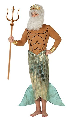 Kostüm Neptun Planet - ATOSA 26673 Karnevalskostüm, Braun/Silber, 50/52