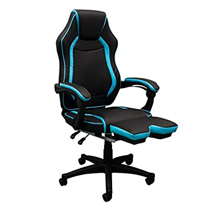Regalos Miguel Sillas Gamer Track. Sillas Gaming Sillas para Gamer (Azul Claro)