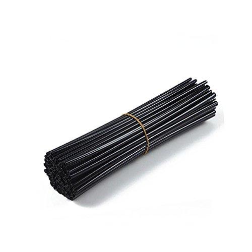 Preisvergleich Produktbild Dyna-Living Universal Motorrad 72 Stück Speichenabdeckung Speichenrohr Rad Speichenreifen Stahldraht Rohr (schwarz)