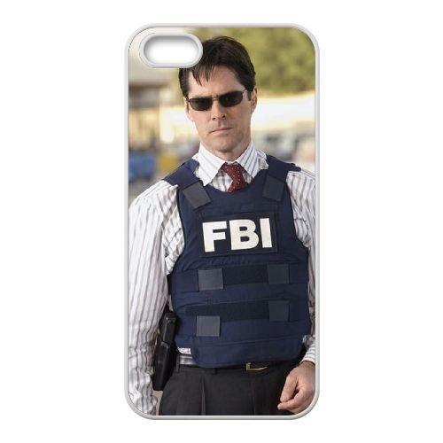 Criminal Minds coque iPhone 5 5S Housse Blanc téléphone portable couverture de cas coque EBDXJKNBO16582