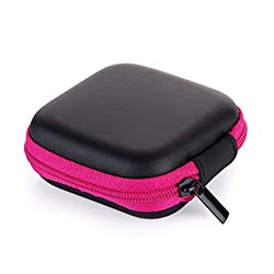 Hangrui Earbuds Case, Portable Carrying Hard Travel Cases For In-ear Earphones, Small Storage Bag For Headphones, Charging Cables, Sd Cards, Etc
