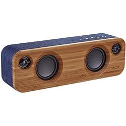 The House Of Marley Get Together Mini Mono portable speaker 24W Azul, Madera - Altavoces portátiles (1,91 cm, 6,35 cm, 24 W, 80 - 20000 Hz, Inalámbrico y alámbrico, Bluetooth)