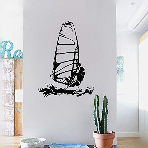 adesivo murale Sport Windsurfer Kitesurfing Sport acquatici