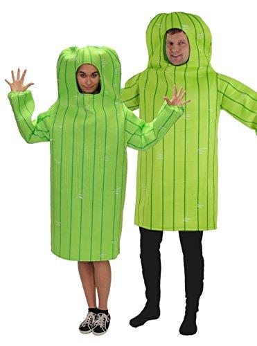 Motto Hen Party Kostüm - Foxxeo Kaktus Kostüm für Erwachsene Damen und Herren Faschingskostüm Karnevalskostüm Größe XXL