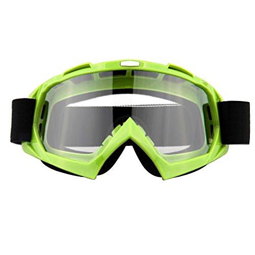 Lmeno Winter Radfahren Skibrille Transparente Linse Snowboardbrille Motorrad Motocross fahren GoggleBrille Anti Fog Winddicht Ski Goggles UV-Schutz Sonnenbrillen Augenschutzbrillen Grün