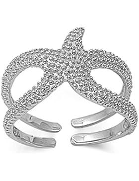 Ring aus Sterlingsilber - Seestern