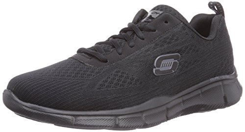 Skechers Equalizer Quick Reaction Herren Sneakers Schwarz (Bbk)