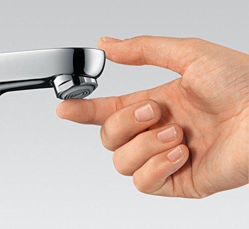 Hansgrohe – Einhebelarmatur, Waschtisch, ohne Ablaufgarnitur, ComfortZone 200, Chrom, Serie Metris - 6