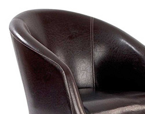 Ultimum Metro Curved Brown Armchair
