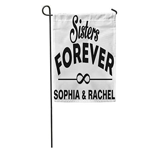 Joe Kiya Garden Flags Like Custom Sisters Forever Birthday Twins Day Girl Outdoor Decorative House Yard Flag 28 X 40 Inch -