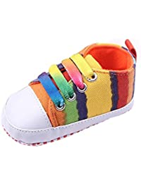 Transer® Bebe Chicas Chicos Rainbow zapatos de lona suave prewalkers casual Toddler Shoes