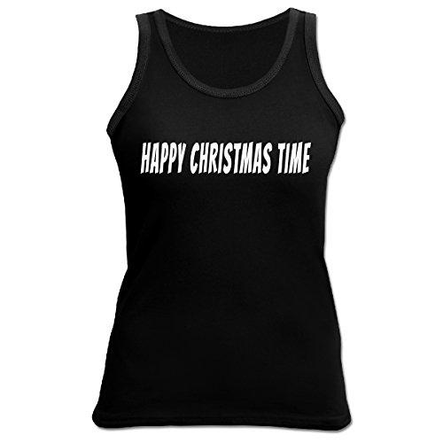 Weihnachten Weihnachtsshirt Tank Top Damen Trägertop HAPPY CHRISTMAS Advent Weihnachtszeit Nikolaus Gr. M : )