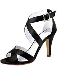 Minitoo MinitooUK-MZ8227, Sandales Pour Femme - Argenté - Silver-9.5cm Heel, 38