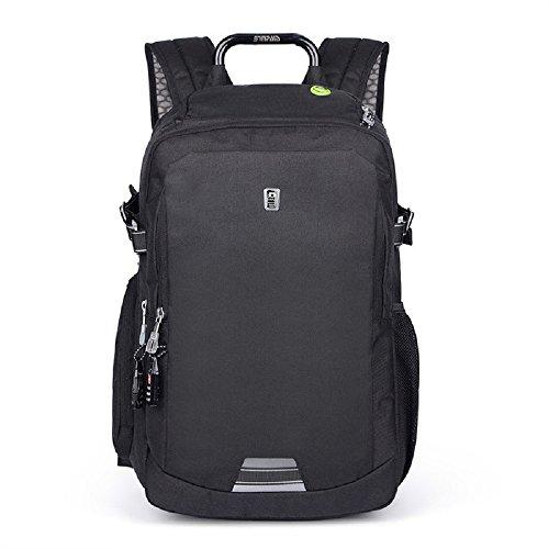 SINPAID Unisex Rucksack Tasche Sports Rucksack Reisetasche Schultertasche Schulrucksack Laptoptasche Hohe Qualität BZ350 (Schwarz)