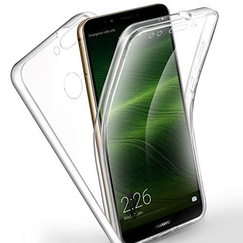 AROYI Huawei Y7 2018 /Honor 7C/ Y7 Prime 2018 Hülle 360 Grad Handyhülle, Silikon Crystal Full Cover [ PC Zurück + TPU Vorderseite] Vorne und Hinten Schutzhülle für Huawei Y7 /Honor 7C/ Y7 Prime 2018
