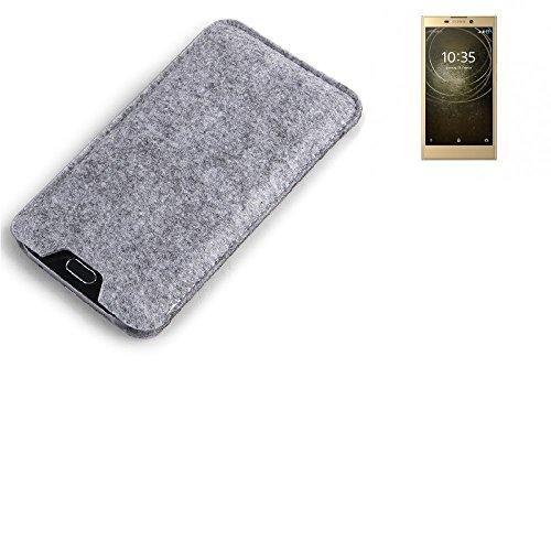 K-S-Trade Filz Schutz Hülle für Sony Xperia L2 Dual-SIM Schutzhülle Filztasche Filz Tasche Case Sleeve Handyhülle Filzhülle grau