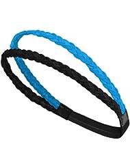 Cheveux Banding Ceinture de remise en forme avec Bandeau Sweat-Bleu Noir